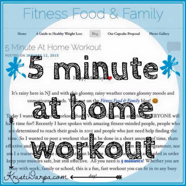 5 Minute At HomeWorkout