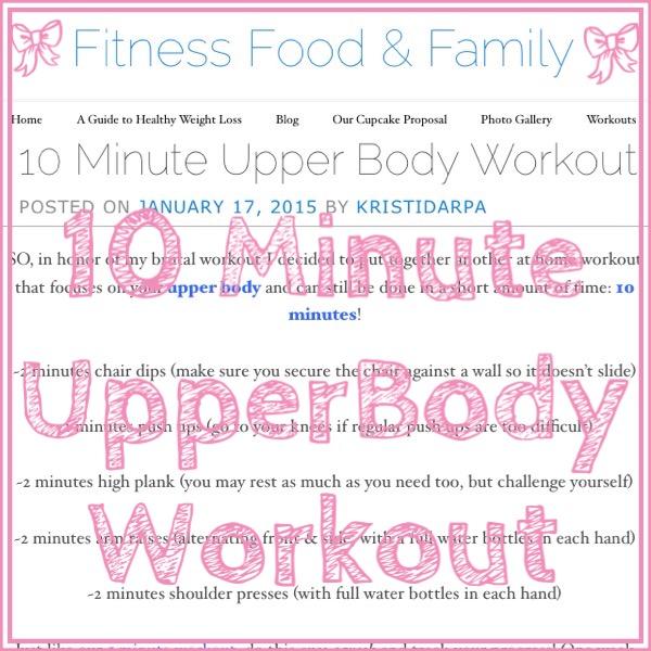 10 Minute Upper BodyWorkout